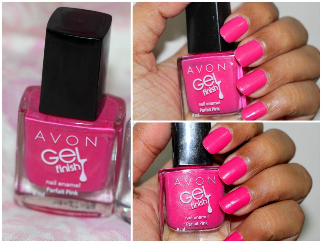 Avon gel finish nail enamel parfait pink review swatches photos 3